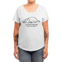 Overthinking and also Hungry - womens-dolman - small view