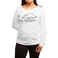 Overthinking and also Hungry - womens-long-sleeve-terry-scoop - small view