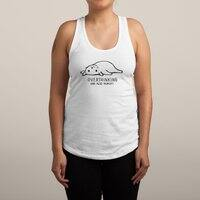 Overthinking and also Hungry - womens-racerback-tank - small view