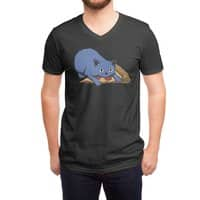 Get your own pizza, human! - vneck - small view