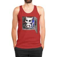 Cat Piloted Cyborg - mens-jersey-tank - small view