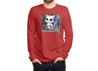 Cat Piloted Cyborg - mens-long-sleeve-tee - small view