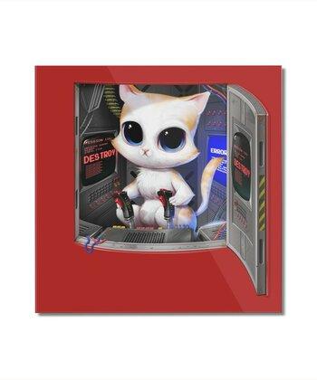Cat Piloted Cyborg