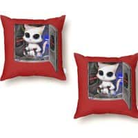 Cat Piloted Cyborg - throw-pillow - small view