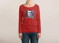 Cat Piloted Cyborg - womens-long-sleeve-terry-scoop - small view