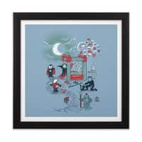 THE FUN IS HERE IN CASTLEMANIA - black-square-framed-print - small view