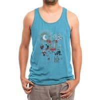 THE FUN IS HERE IN CASTLEMANIA - mens-triblend-tank - small view