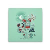 THE FUN IS HERE IN CASTLEMANIA - square-stretched-canvas - small view