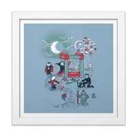 THE FUN IS HERE IN CASTLEMANIA - white-square-framed-print - small view