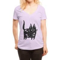 Fatty cat - womens-deep-v-neck - small view