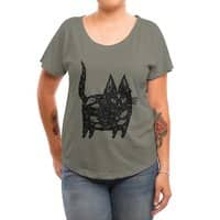 Fatty cat - womens-dolman - small view