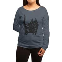 Fatty cat - womens-long-sleeve-terry-scoop - small view