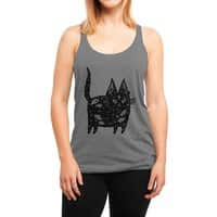 Fatty cat - womens-triblend-racerback-tank - small view
