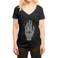 Witch Hand - womens-deep-v-neck - small view