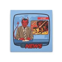 Breaking News - square-stretched-canvas - small view