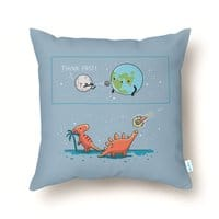 Think fast - throw-pillow - small view