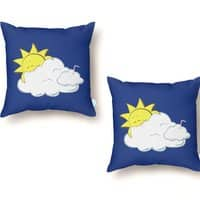 Partly Hungry Skies - throw-pillow - small view