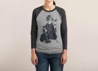 Black Metal Geisha - triblend-34-sleeve-raglan-tee - small view