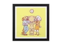 Water cooler talk - black-square-framed-print - small view