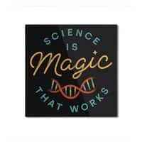Science is Magic - square-mounted-aluminum-print - small view