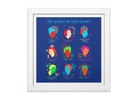 She Blinded Me with Science - white-square-framed-print - small view