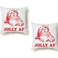 Jolly AF - throw-pillow - small view