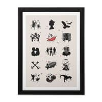 Bands - black-vertical-framed-print - small view