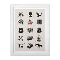 Bands - white-vertical-framed-print - small view
