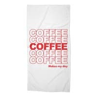 Coffee Makes My Day - beach-towel - small view