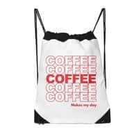 Coffee Makes My Day - drawstring-bag - small view