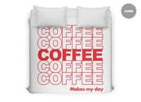 Coffee Makes My Day - duvet-cover - small view