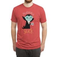 Mornings Suck - mens-triblend-tee - small view
