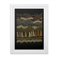 Misty Mountains - white-vertical-framed-print - small view