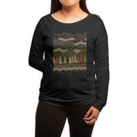 Misty Mountains - womens-long-sleeve-terry-scoop - small view