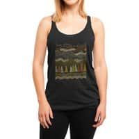 Misty Mountains - womens-triblend-racerback-tank - small view
