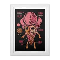 Ice Cream Kaiju - white-vertical-framed-print - small view