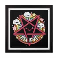 Believe - black-square-framed-print - small view
