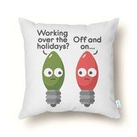 Seasonal Employment - throw-pillow - small view