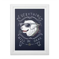 Wholesome Pupper - white-vertical-framed-print - small view