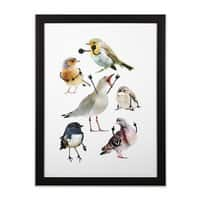 Birds with Arms - black-vertical-framed-print - small view