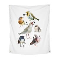 Birds with Arms - indoor-wall-tapestry-vertical - small view