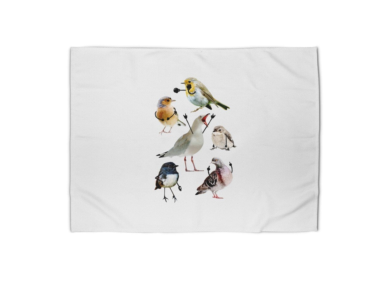 Birds With Arms By Nicholas Ginty Blanket Threadless