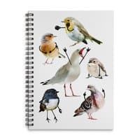 Birds with Arms - spiral-notebook - small view