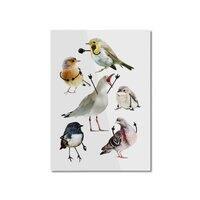 Birds with Arms - vertical-mounted-aluminum-print - small view