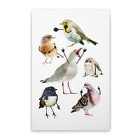 Birds with Arms - vertical-stretched-canvas - small view
