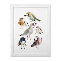 Birds with Arms - white-vertical-framed-print - small view