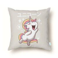 Kawaii Unicorn - throw-pillow - small view