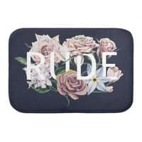 Floral Rude - bath-mat - small view