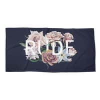 Floral Rude - beach-towel-landscape - small view