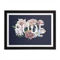 Floral Rude - black-horizontal-framed-print - small view